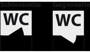 Schlosseite- Gegenseite Skizze